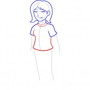 How To Draw How To Draw A Girl For Kids Hellokids Com