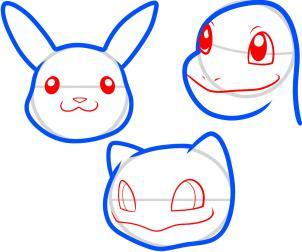 How To Draw Pokemon Faces Hellokids Com