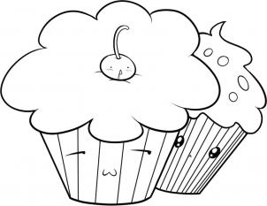 how to draw how to draw cupcakes hellokids How Draw Caricatures step 5
