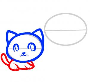 How to draw how to draw cats for kids hellokids step 4 draw the cats altavistaventures Gallery