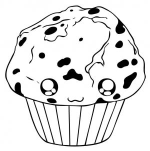 muffin coloring pages for kids | How to draw how to draw a muffin - Hellokids.com
