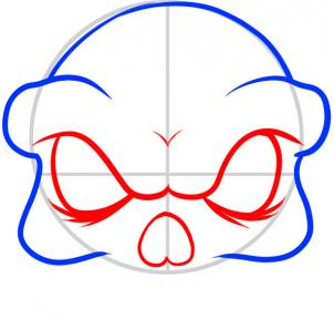 how to draw a superhero skull