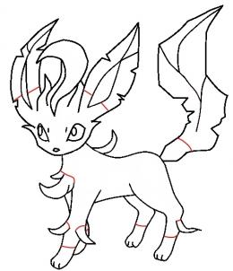 How to draw leafeon - Hellokids.com