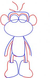 How to draw how to draw boots the monkey from dora the