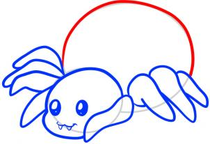 How To Draw How To Draw A Spider For Kids Hellokidscom