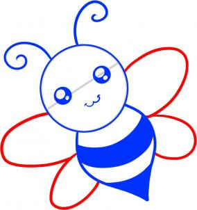 How To Draw How To Draw A Bee For Kids Hellokids Com
