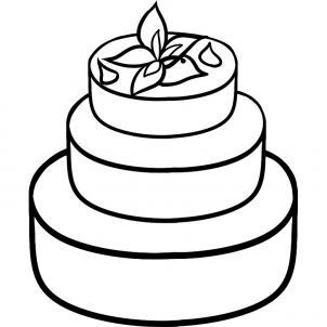 How to draw how to draw a wedding cake - Hellokids.com