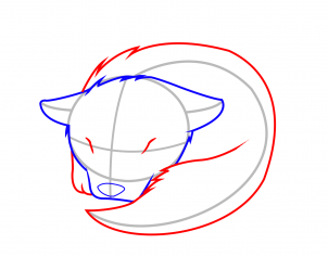 How To Draw How To Draw A Sleeping Wolf Pup Hellokids Com