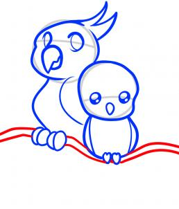 How To Draw How To Draw Parrots For Kids Hellokids Com