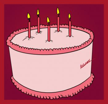 How to draw how to draw a simple birthday cake - Hellokids.com