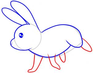 How To Draw How To Draw A Rabbit For Kids Hellokids Com