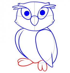 Now That The Whole Body Is Drawn In You Can Draw Out Owls Feet Next Erase Lines And Shapes Drew Step One