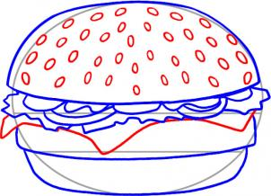 how to draw how to draw a hamburger hellokids com