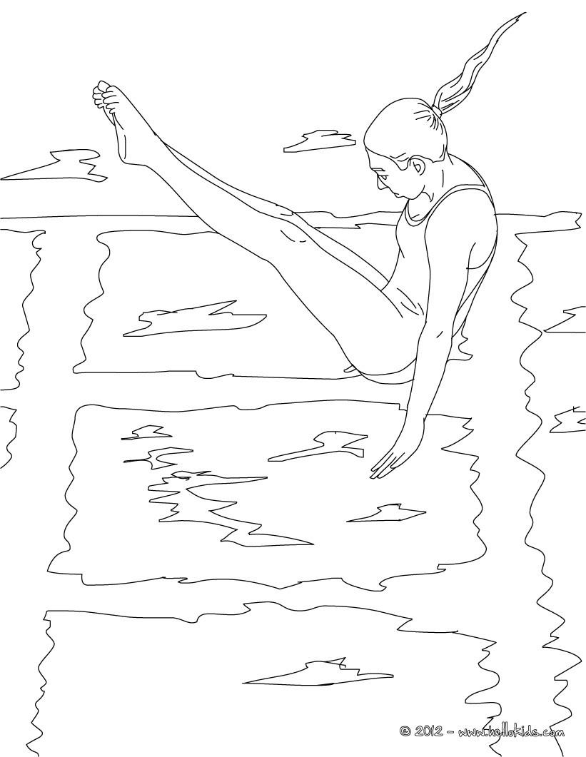 diving sport coloring pages hellokids com