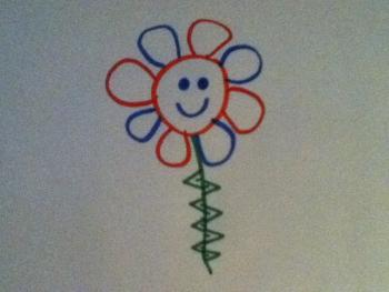 how to draw a colorful flower for little kids