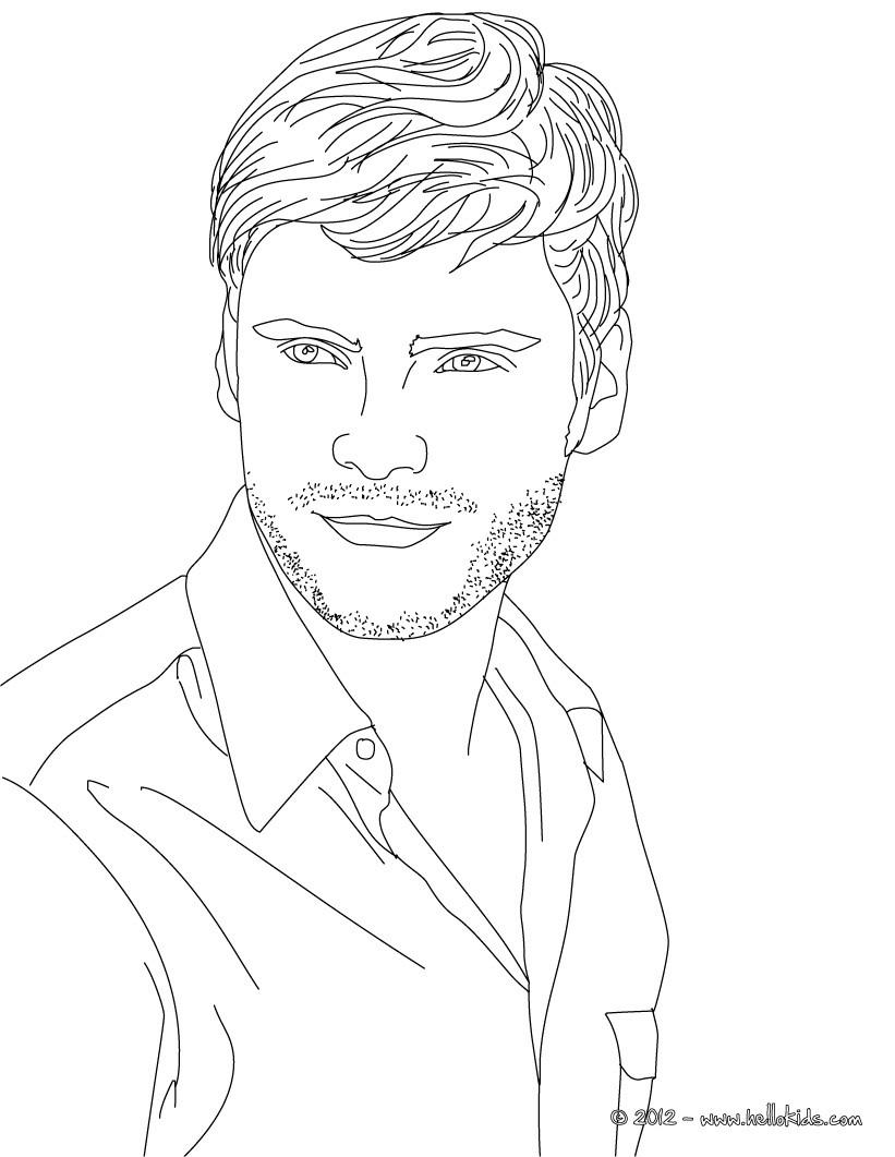 Volwassen Kleurplaat Person Daniel Bruhl German Famous Actor Coloring Pages