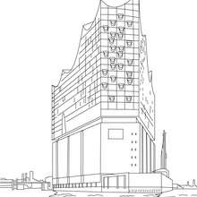 Elbphilharmonie Hamburg a concert hall - Coloring page - COUNTRIES Coloring Pages - GERMANY coloring pages - FAMOUS PLACES IN GERMANY coloring pages