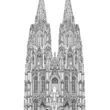 CATHEDRAL OF COLOGNE coloring page - Coloring page - COUNTRIES Coloring Pages - GERMANY coloring pages - FAMOUS PLACES IN GERMANY coloring pages