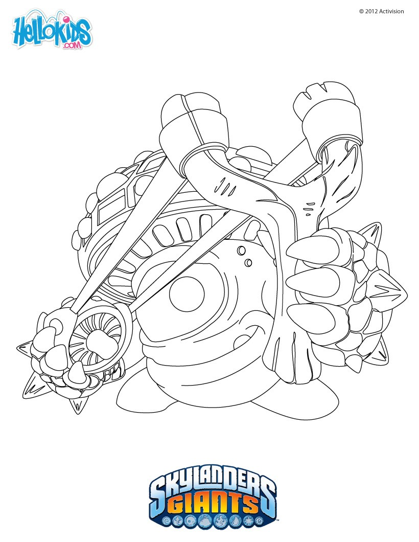 Skylanders Superchargers Characters Coloring Pages Skylander Coloring Pages