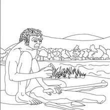 Homo Erectus making tools