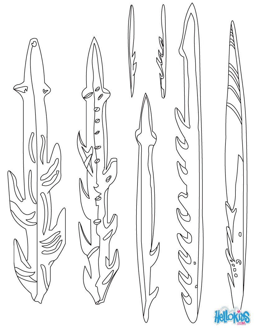 Online coloring tools - Harpoons Homo Sapiens Tools Coloring Page Color Online Print