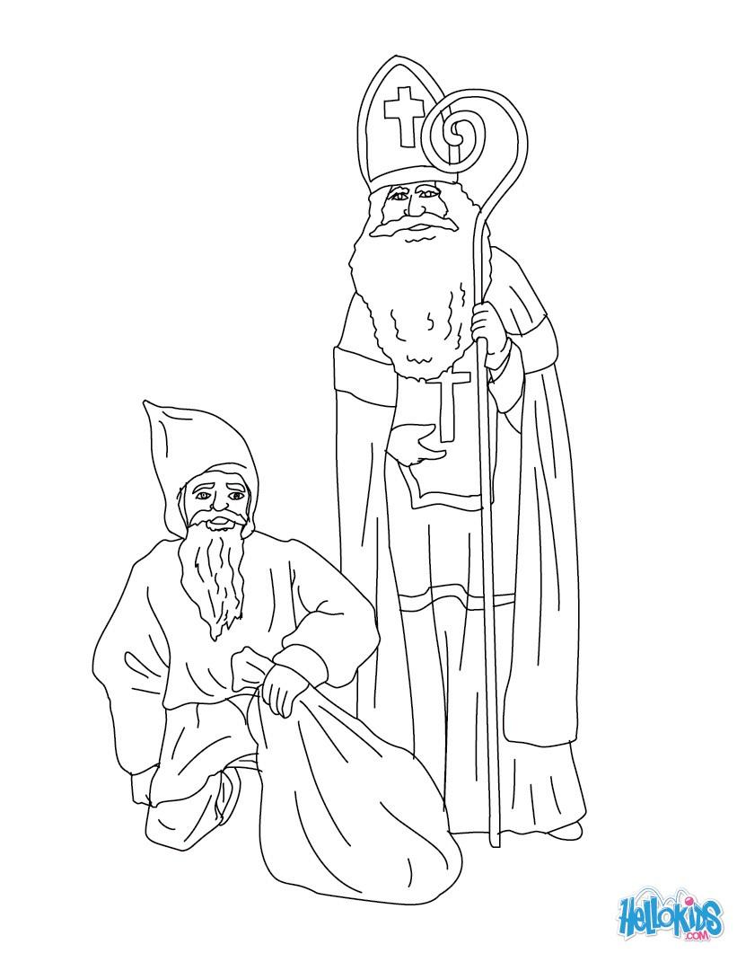 st nicholas mr bogeyman coloring pages hellokidscom