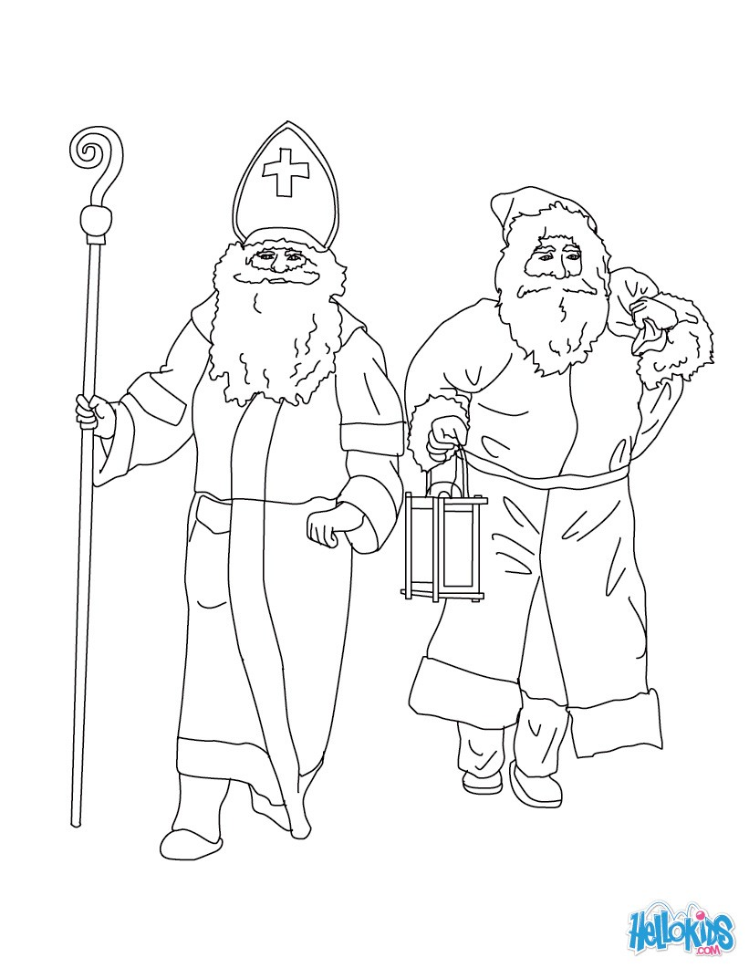 santa claus u0026 saint nicholas coloring pages hellokids com