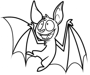 How to draw how to draw a vampire bat for How to draw a small bat