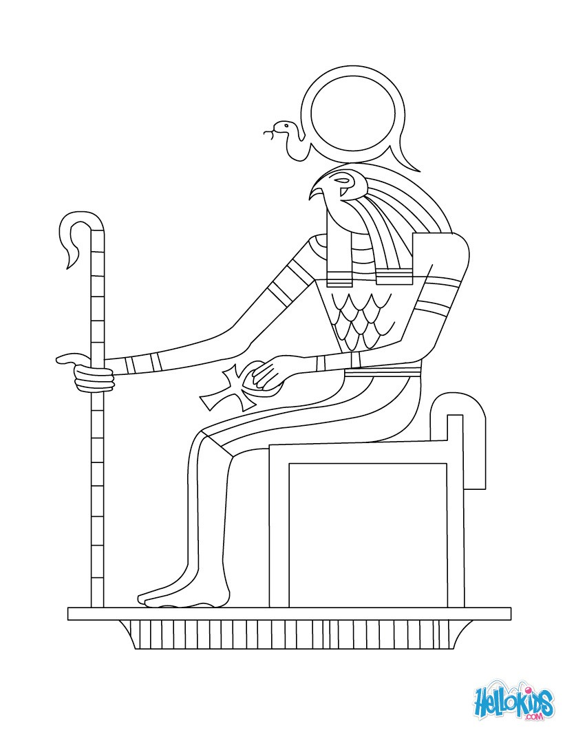 Magicians god of ra free colouring pages for Egyptian coloring page