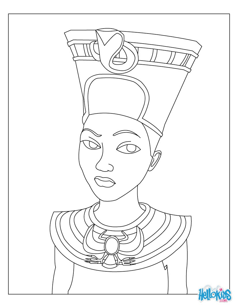 pharaoh coloring pages - pharaoh queen drawing the image kid has it