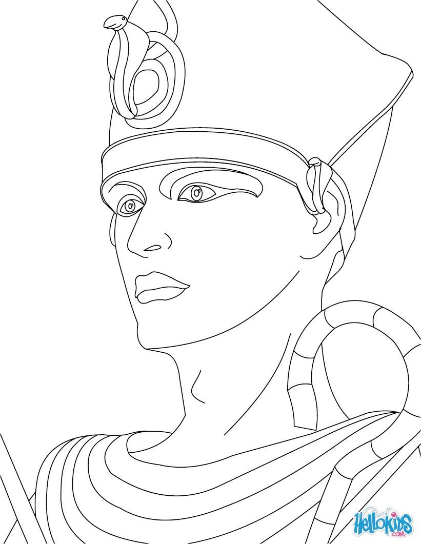 pharaoh khufu coloring pages - photo#4