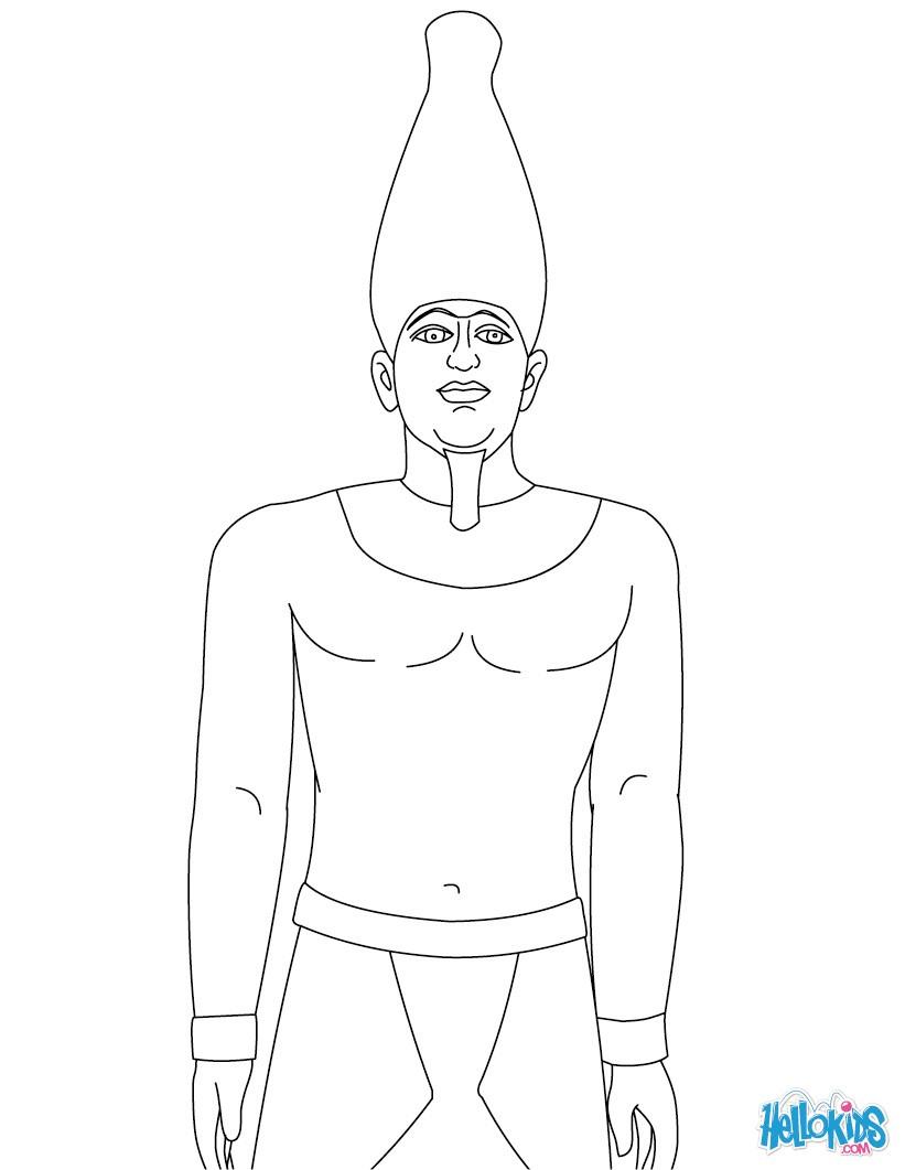 pharaoh khufu coloring pages - photo#2