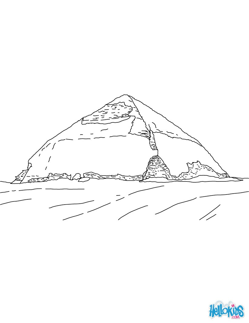 The Red Pyramid Coloring Pages