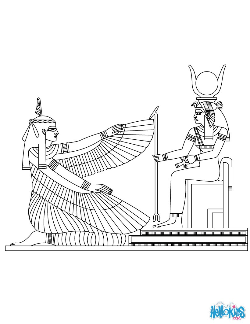 maat and deities coloring pages hellokids