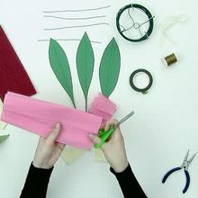 How to make a paper bouquet of flowers video