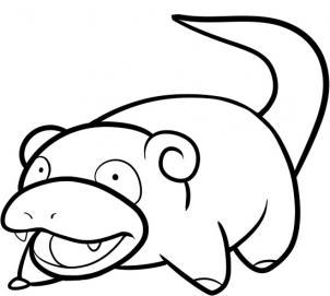 How To Draw Slowpoke Hellokidscom - Slowpoke-coloring-pages