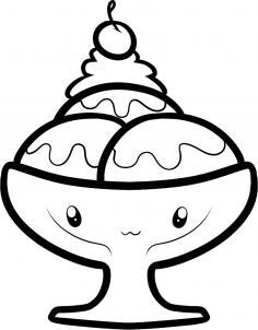 How to draw how to draw a sundae sundae Hellokids