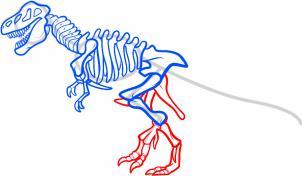 How To Draw How To Draw A Dinosaur Skeleton Dinosaur Skeleton