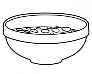 bowl of cereal coloring pages - photo#5