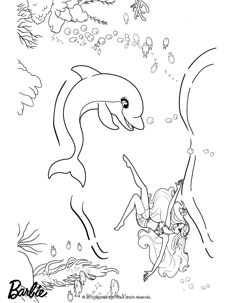 barbie in a mermaid tale coloring pages magic fish of
