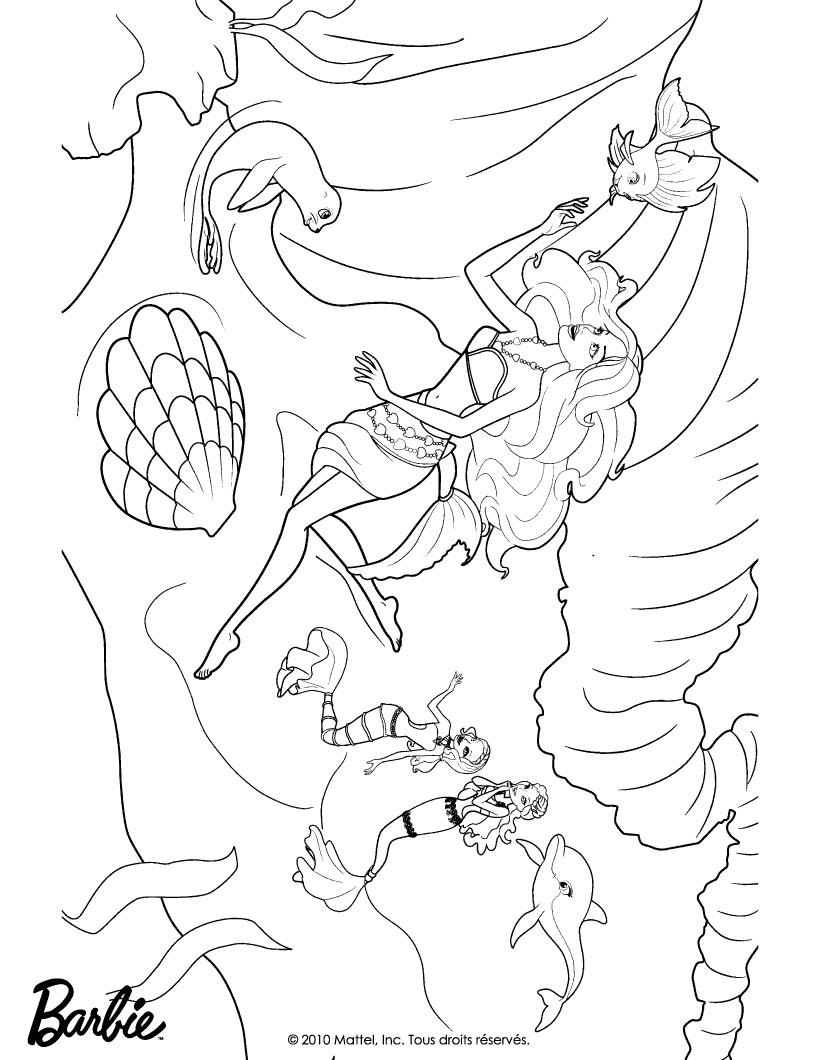barbie in a mermaid tale coloring pages merliah as human free barbie
