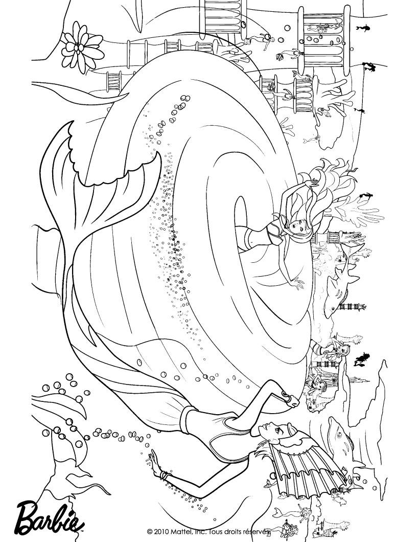 barbie in a mermaid tale coloring pages merliah lost in the whirlpool barbie