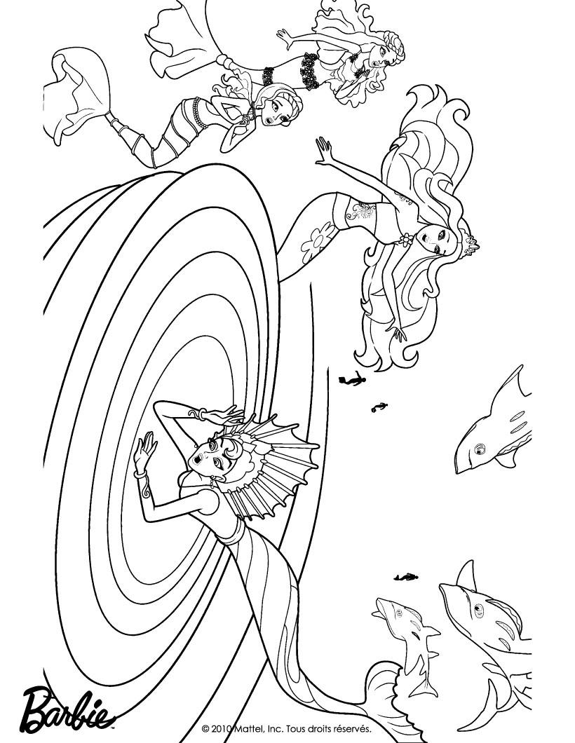 barbie in a mermaid tale coloring pages eris stuck in the whirlpool free barbie