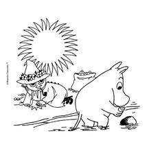 MOOMIN IN THE VALLEY coloring sheet - Coloring page - CHARACTERS coloring pages - CARTOON CHARACTERS Coloring Pages - MOOMIN coloring pages