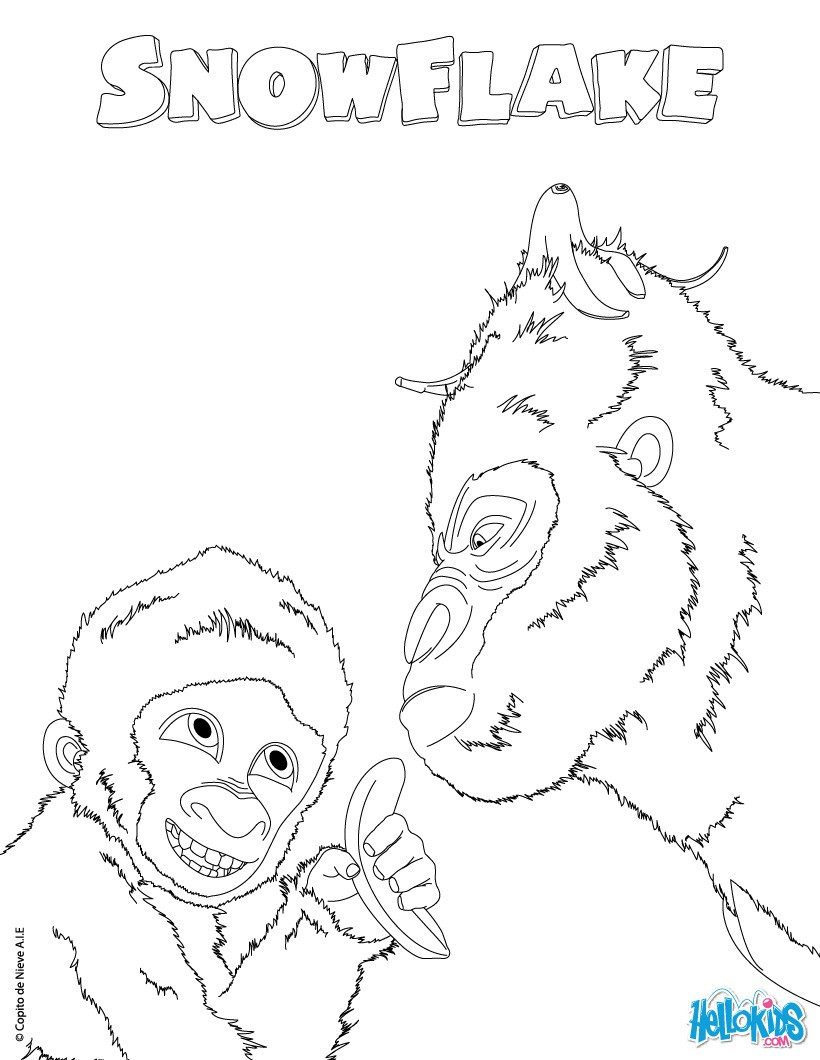 Snowflake coloring pages - Hellokids.com