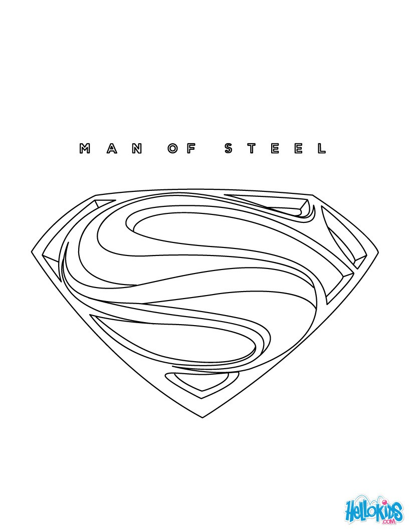It is a photo of Superman Printable Coloring Pages inside flying