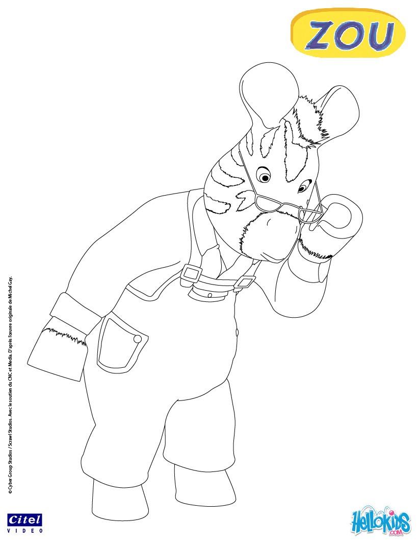 zebra grandpa coloring page