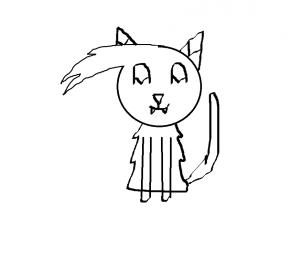 how to draw a skinny kid