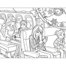 Barbie's family for christmas coloring pages - Hellokids.com