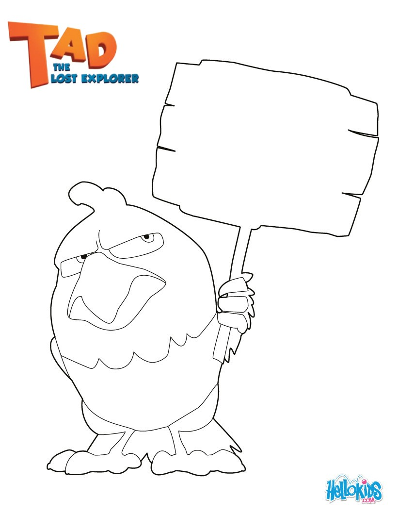 BELZONI The Parrot Coloring Page Color Online Print